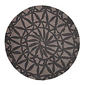 Esprit Oriental Lounge Taupe Tufted Rug - Round 250 cm x 250 cm (8 ft 2 in x 8 ft 2 in)