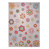 Esprit Back to Flower Power Tufted Rug - 140 cm x 200 cm (4 ft 7 in x 6 ft 7 in)