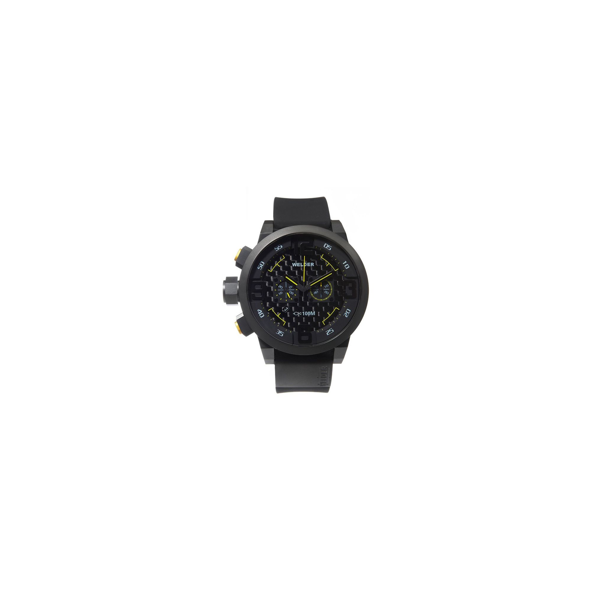 Welder Gents Black Dial Black Rubber Strap Watch K31-10000 at Tesco Direct