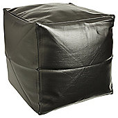 Kaikoo Faux Leather Cube Black