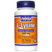 Now L Lysine 500mg 100 Tablets