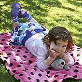 Buggy Snuggle Fur Cot Blanket (Dotty Pink)