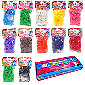 6000 Deluxe Colourful Rainbow Rubber Loom Bands Bracelet Making Set With S-Clips