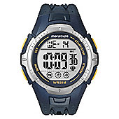 Timex Gents Marathon Digital Chronograph Blue Strap Watch T5K3554E