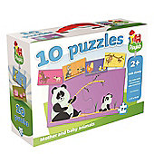PlayLab Animal Families 10in1 Puzzles - Games/Puzzles