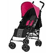 OBaby Atlas Stroller (Grey Stripe/Pink)