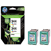 HP 344 2-pack Tri-colour Original Ink Cartridges