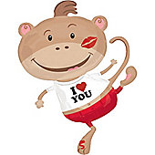 "Monkey Lovin' Valentines Balloon - 34"" Foil (each)"