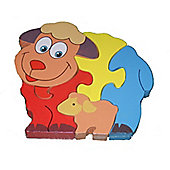 Traditional Wood 'n' Fun Farm Animal Puzzles - Sheep 12m+