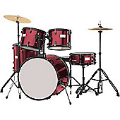 Rocket 5 Piece Rock 22in Drum Kit Wine Red