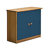 Verona Mid-Sleeper Cupboard Colour Antique and Blue