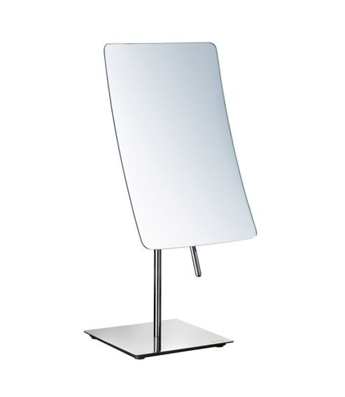 Smedbo Outline Rectangle Freestanding Magnifying Mirror
