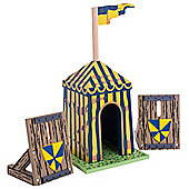 Le Toy Van Blue Siege Tent with Palisades