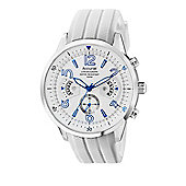 Accurist Gents Chronograph White Rubber Strap Strap Watch MS920WW