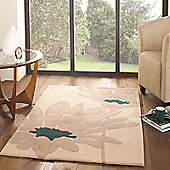 The Peaks Alton Natural/Teal 80x150 Acrylic Rug