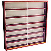 6 Shelf Glass Wall Display Cabinet - Mahogany