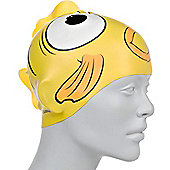 Speedo Sea Squad Junior Silicone Swimming Cap - Yellow