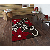Oriental Carpets & Rugs Modena Brown/Red Budget Rug - 150 cm x 210 cm (4 ft 11 in x 6 ft 11 in)