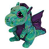 TY Beanie Boo Plush - Cinder Green Dragon 15cm