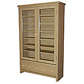 CD / DVD / Blu-ray / Video Media Storage Cabinet - Oak