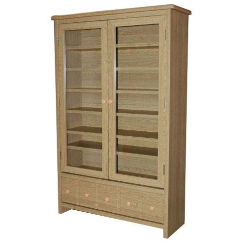 CD / DVD / Blu-ray / Video Media Storage Cabinet - Oak