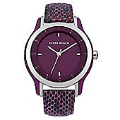 Karen Millen Ladies Leather Swarovski Crystal Watch KM105V