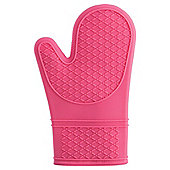 Tesco Waterproof Silicone Oven Glove, Pink