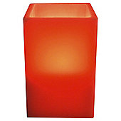 Tesco Medium Square LED Candle, Coral