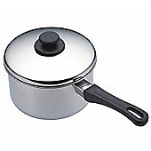 Kitchen Craft Stainless Steel Extra Deep Saucepan, 16cm