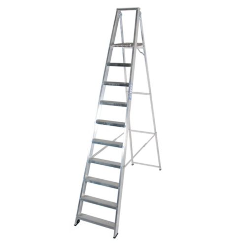 Industrial 10 Tread Platform Step Ladder