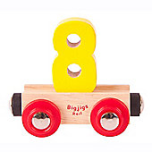 Bigjigs Rail BR138 Name Number 8 (Colours Vary)
