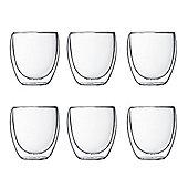Bodum Pavina Double Wall Thermo Glasses 8.5oz Box Set 6