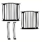 Dreambaby Double Stair Gate Pack Black 71-90cm - F786B