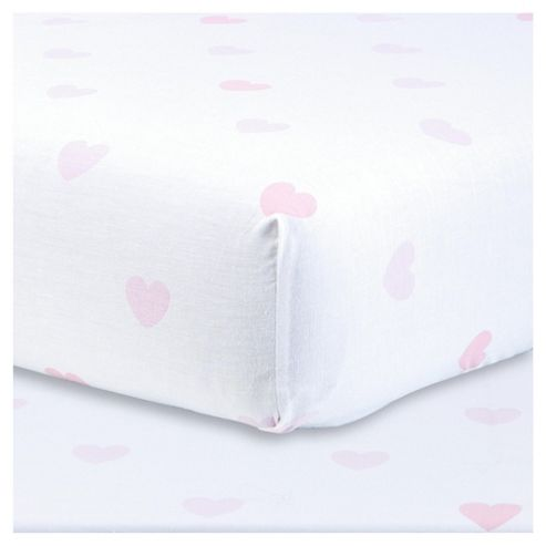 Tesco Heart print fitted sheet Single