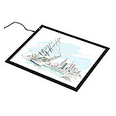Homcom LED Tracing Light Pad Box Acrylic Sketch Tablet Craft Design Drawing Sketching Scale (A4)
