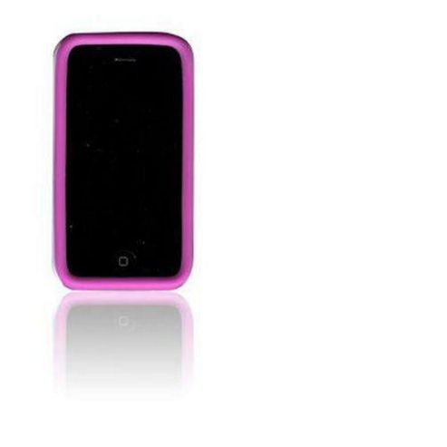 U-bop Outer Body Case with Anti shock White/Pink - For Apple iPhone 3G, 3GS