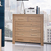 Urbane Designs Jive 4 + 2 Drawer Chest in Oak