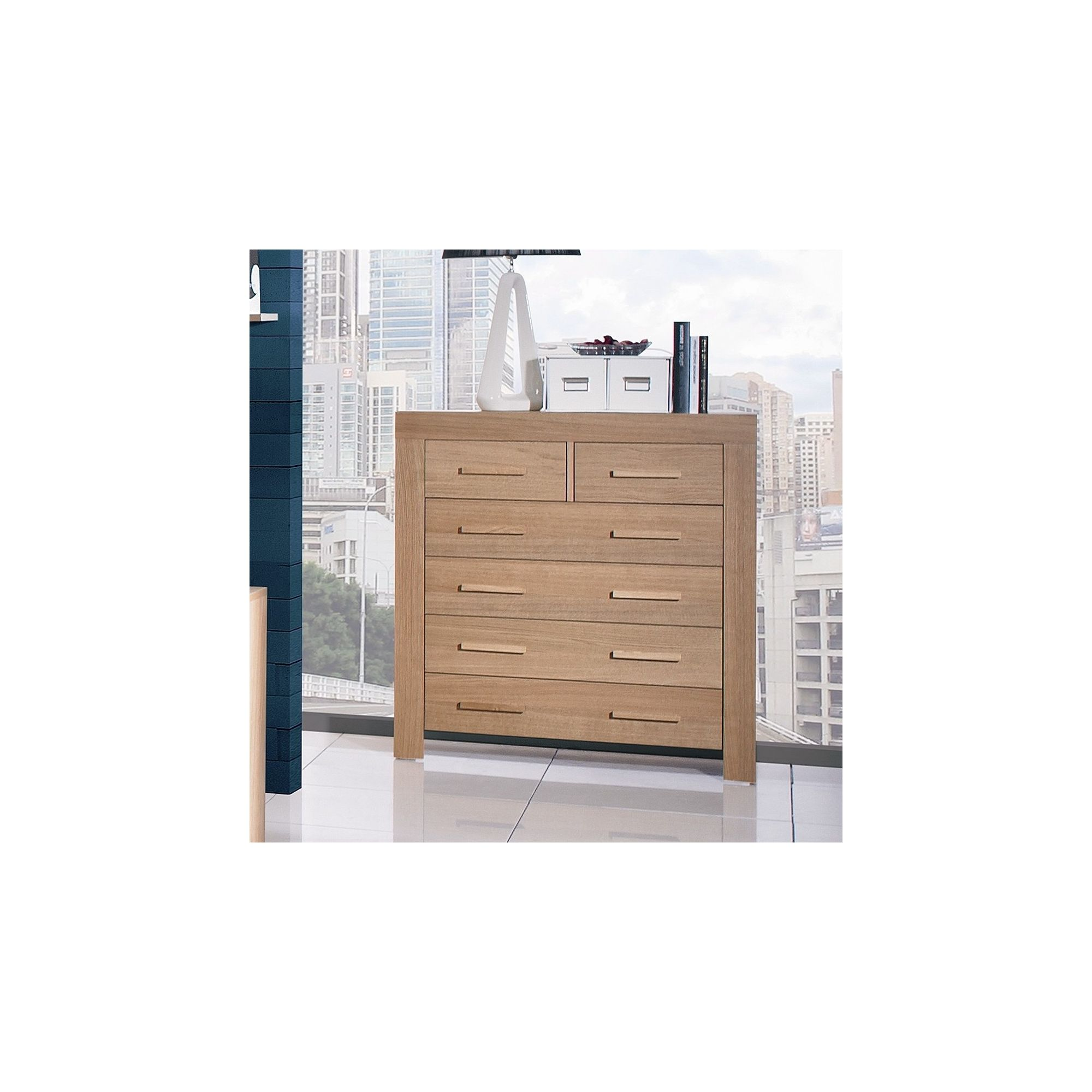 Urbane Designs Jive 4 + 2 Drawer Chest in Oak at Tesco Direct