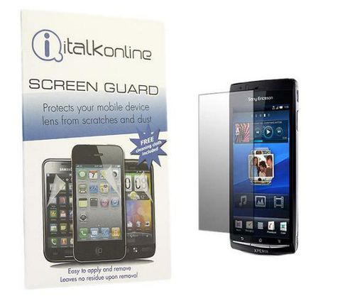 S-Protect LCD Screen Protector & Micro Fibre Cleaning Cloth - Sony Ericsson X12 Arc Xperia