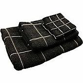 Homescapes Black Turkish Cotton Guest Towel Berkeley Design