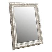 Gallery Buckingham Mirror - Vintage White - 115 cm H x 85 cm W