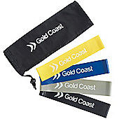 Gold Coast Set of 4 Latex Resistance Exercise Loop Bands Home Gym Fitness Kit