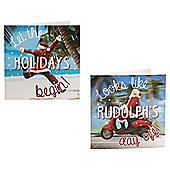 Fun Santa Christmas Cards, 10 pack