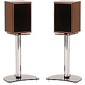 Pair of 400mm Speaker Stands with Smoked Base