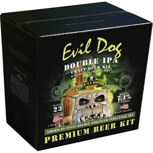 Bulldog Home brew beer kit - Evil Dog Double IPA (7.1% abv) - 40 pints