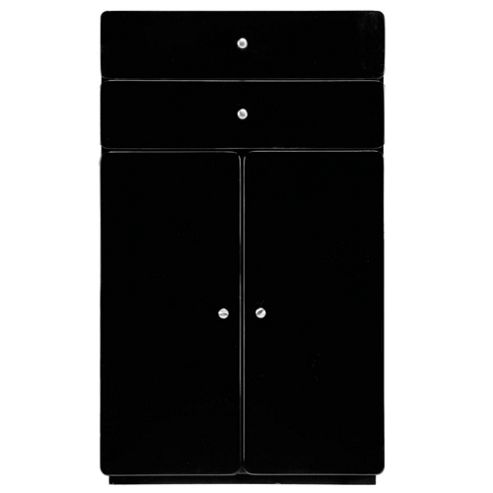 Stockholm Black Gloss Double Door Unit