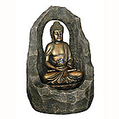 Buddha Arch Indoor / Outdoor Water Fountain - Gold / Grey