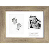 3D Baby Casting Kit - Oak effect Frame - Silver Paint