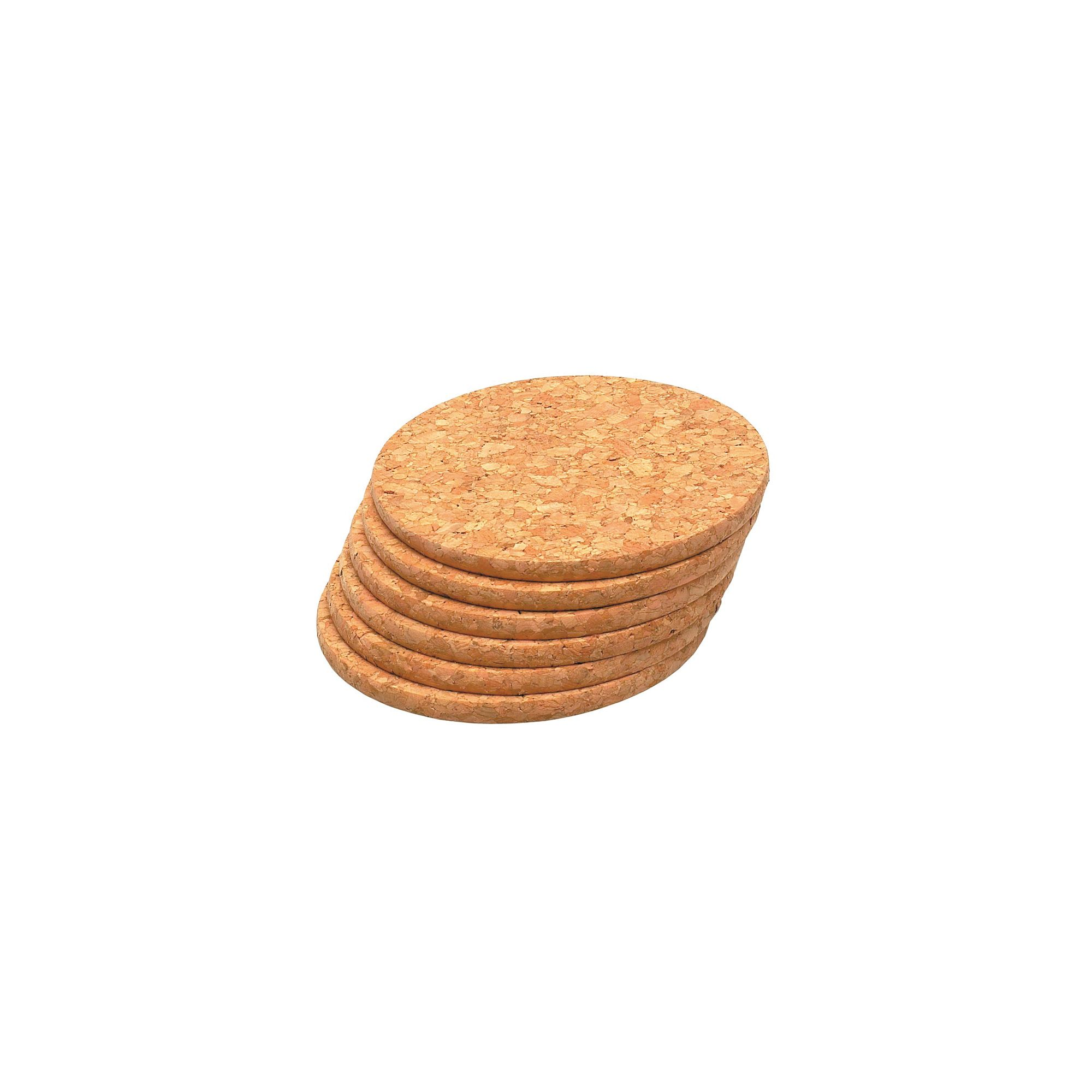 T&g 15036 Cork Coasters 100mm X6