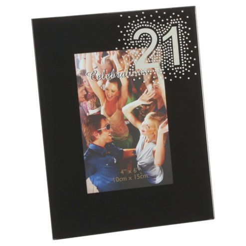 Glitzy 21st Photo Frame